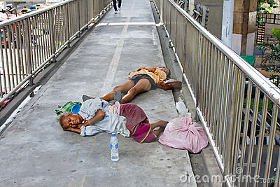 Homeless people in Thailand Editorial Photo