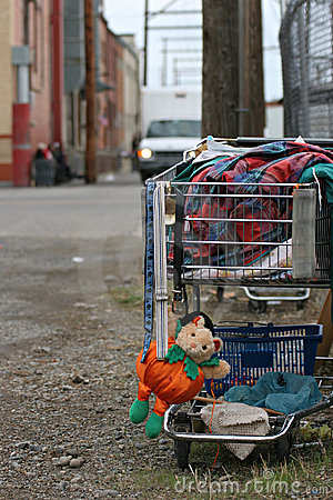 Free Homeless Shopping Cart Stock Image - 274241