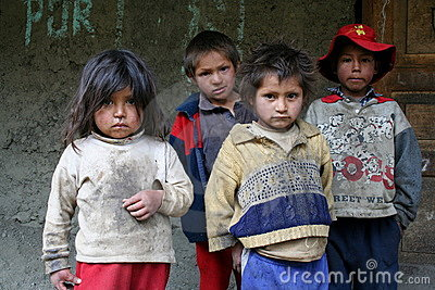 Homeless street kids Editorial Stock Image