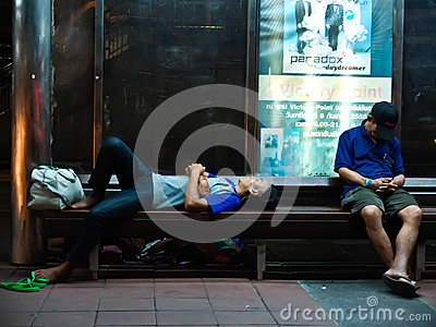 Homeless in Thailand Editorial Image