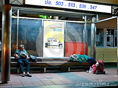 Homeless in Thailand Editorial Stock Image