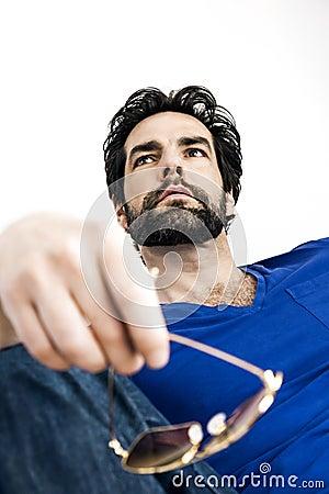 Homem com barba