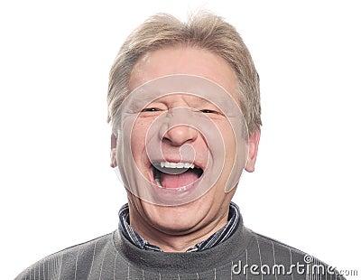 Homem com boca aberta