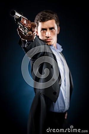 Homem com mosquete