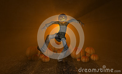 Homem da abóbora de Halloween