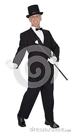 Homem da música e da dança, dançarino de torneira, dança, isolada