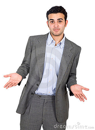 Homem de negócio confuso