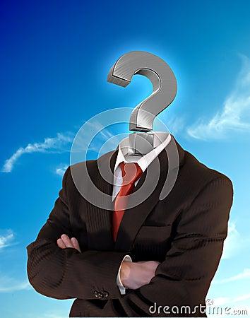 Homem De Negócio Do Ponto De Interrogação