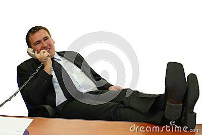Homem de negócio em seu escritório