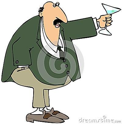 Homem de negócios que faz um brinde