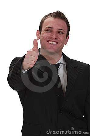 Homem de negócios feliz