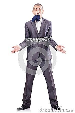 Homem de negócios prendido