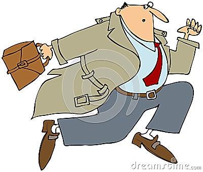 Homem de negócios Running