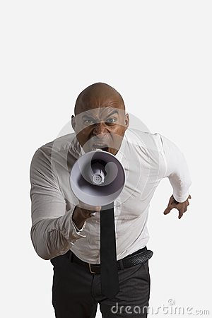 Homem de negócios Shouting