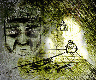 Homem deprimido sujo
