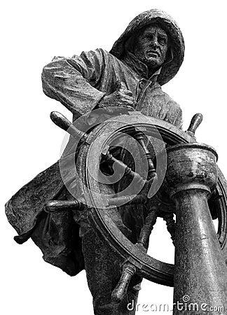 Homem do Leme Statue in Porto