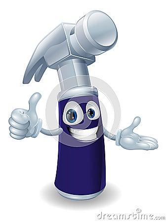 Homem dos desenhos animados do martelo de garra