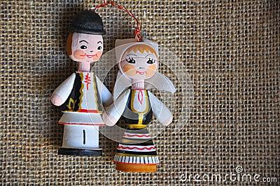 Homem e mulher romenos