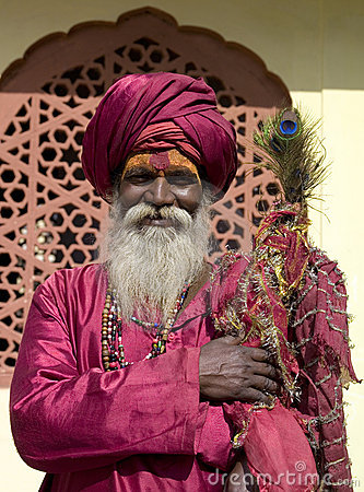 Homem indiano em Rajasthan Foto Editorial