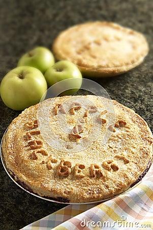 Homemade apple and blackberry pie