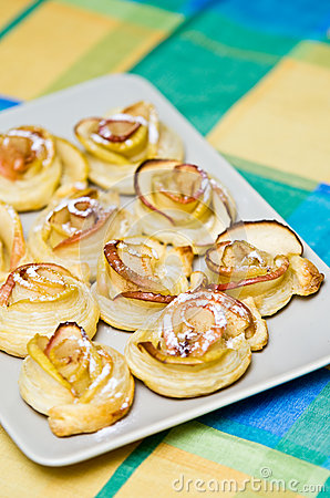 Homemade apple cookies