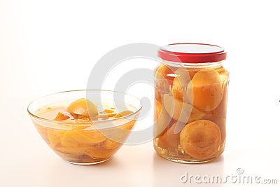 Homemade apricot compote