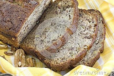 Homemade Banana Bread Closeup