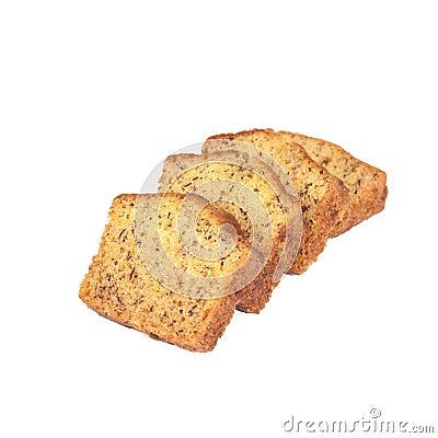 Free Homemade Banana Bread Sliced On White Stock Images - 68772794