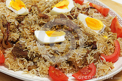 Homemade biryani