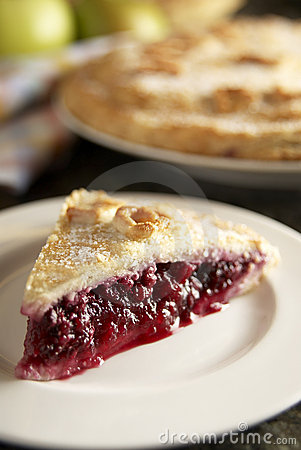 Homemade blackberry and apple pie
