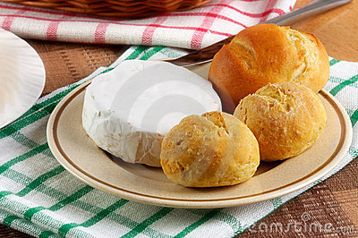 Homemade buns with cheese