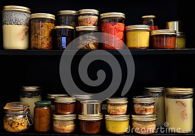 Homemade canned food