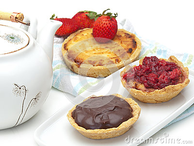 Sweet homemade tarts