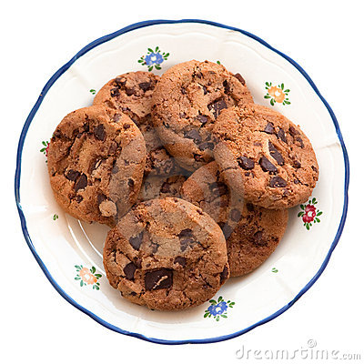 Free Homemade Cookies On A Plate Royalty Free Stock Photos - 13497308