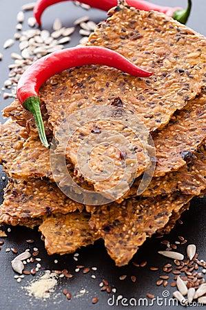 Homemade Cornmeal Chili Crispbread