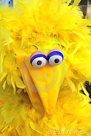 Homemade Costume resembling Big Bird