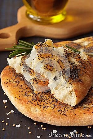 Homemade flatbread.