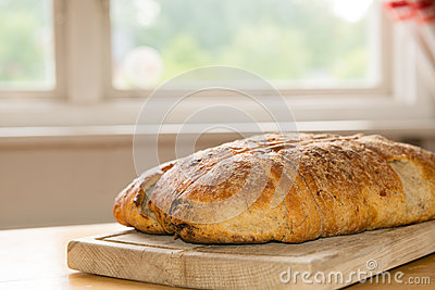 Homemade fresh baked bread