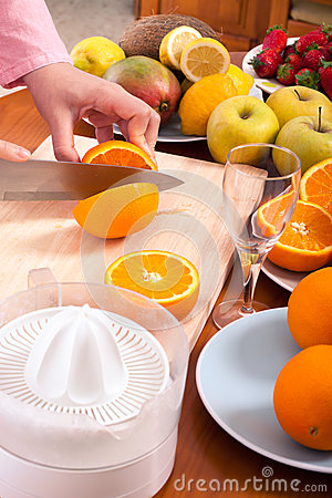 Homemade fruit juice preparation