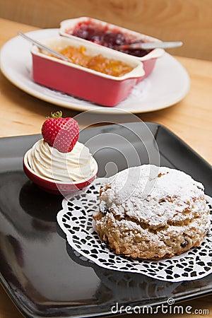 Homemade fruit scone