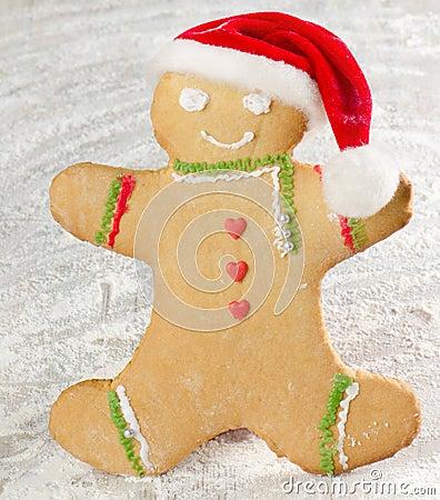 Homemade gingerbread man