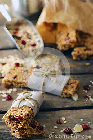 Free Homemade Granola Protein Bars Stock Photography - 41881342