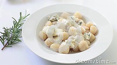 Homemade italian gnocchi stock video footage