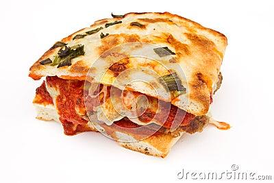 Homemade Meatball Sandwich on Focaccia Bread