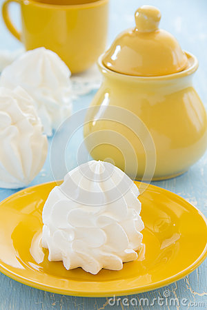 Homemade meringue.