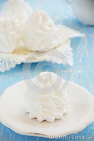 Homemade meringue.