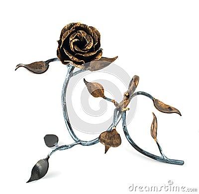 Free Homemade Metal Rose Stock Photo - 18424820