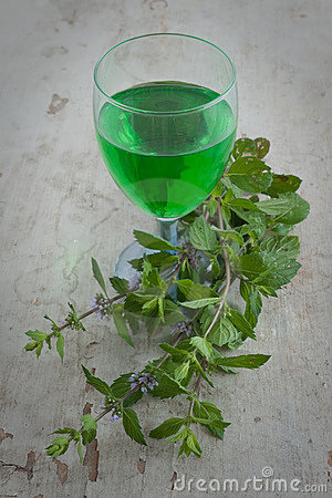 Homemade mint drink