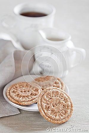 Homemade oat bran cookies
