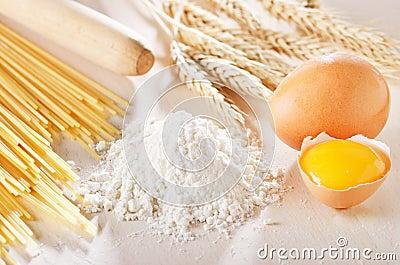 Homemade pasta scene